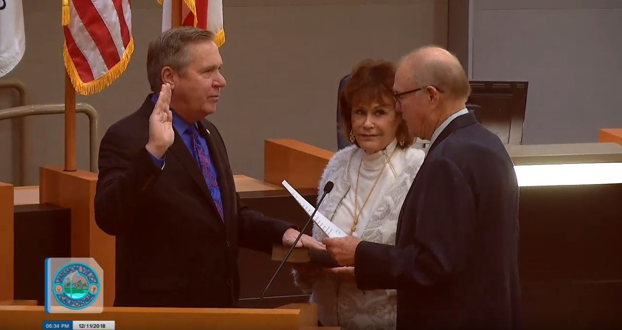 Greg Takes Oath of Office for Mission Viejo City Council