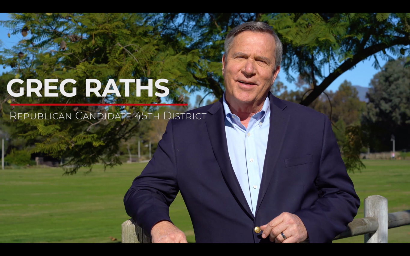 Greg Raths - California's 45th Congressional District