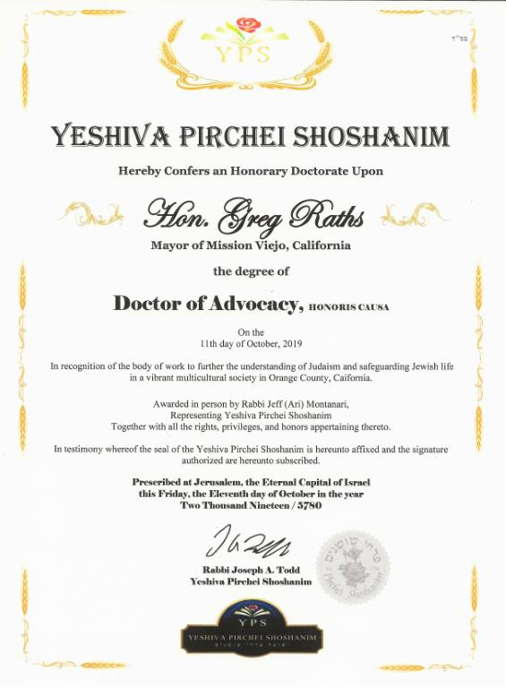 Doctor of Advocacy, degree image